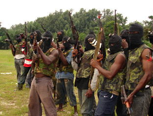 MEND group, Niger-Delta Nigeria {The Mustard seed.com}