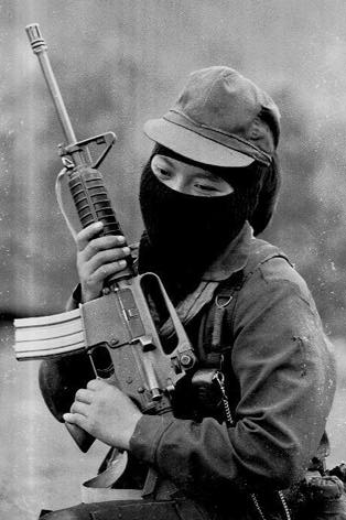 A EZLN rebel in southern Mexico.  They have fought an armed resistance against the Mexican government since 1994 but haven't fired a shot since their opening campaign.