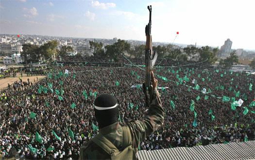 A Hamas rally.