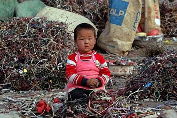 An electronic dump in China.