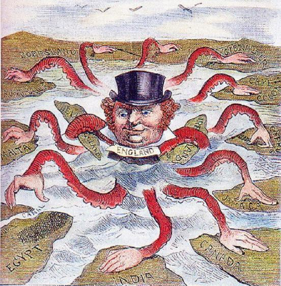 John Bull (the British Uncle Sam) in a late 19th century cartoon.